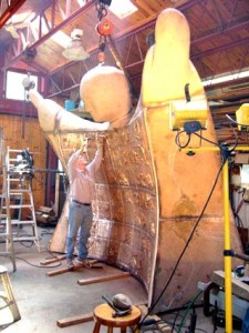 Dr. Michael Irving Sculpting in Studio